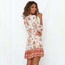 Bohemia dress ladies halfsleeved stitching Vneck spring and summer new women39s clothing NHDF198005
