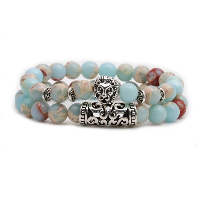 Fashion Owl Buddha Head Elbow Set Bracelet Lion Head Ghost Beaded Bracelet NHYL198123