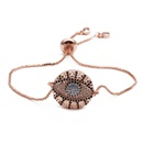 Devil Eye Female Bracelet Copper Micro Inlaid Zircon Valentine39s Day Adjustable Pull Bracelet Custom NHYL198126