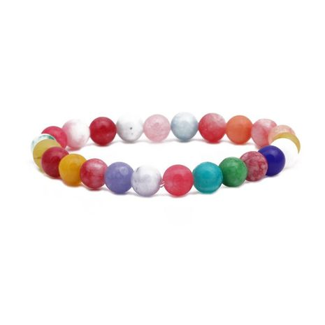 Fashion 8MM Beaded Natural Stone Bracelet Color Mixed Color Elastic String Beaded Bracelet NHYL198144's discount tags