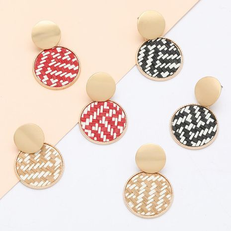 Fashion earrings new fashion multilayer round alloy rattan earrings for women NHJE198150's discount tags