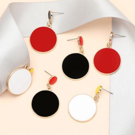 Fashion earrings multilayer size round alloy drip oil geometric earrings women NHJE198151's discount tags