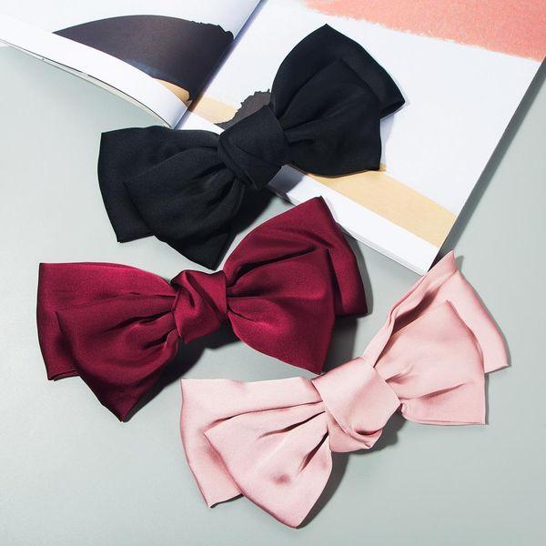 Fashion red big bow hair clip back head lolita hair clip spring clip cute hair clip headdress NHLN198154