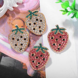 Fashion Sweet Cute Strawberry Women's Earrings Diamond Fruit Earrings NHJQ198156's discount tags