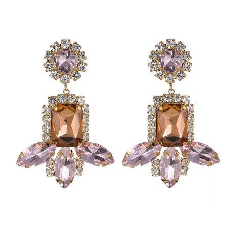 Fashion Pink Gemstone Tassel Earrings New Earrings Wholesale NHZU198165's discount tags