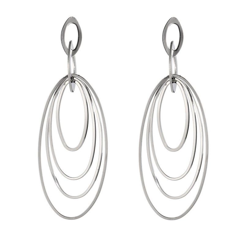Fashion Exaggerated Geometric Oval Multilayer Circle Earrings Wholesale NHZU198166