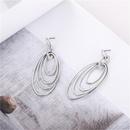 Fashion Exaggerated Geometric Oval Multilayer Circle Earrings Wholesale NHZU198166