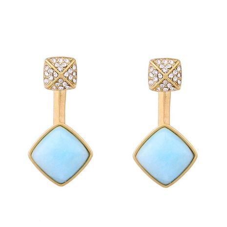Fashion Water Drop Gem Diamond Glamour Women's Stud Earrings NHQD198175's discount tags