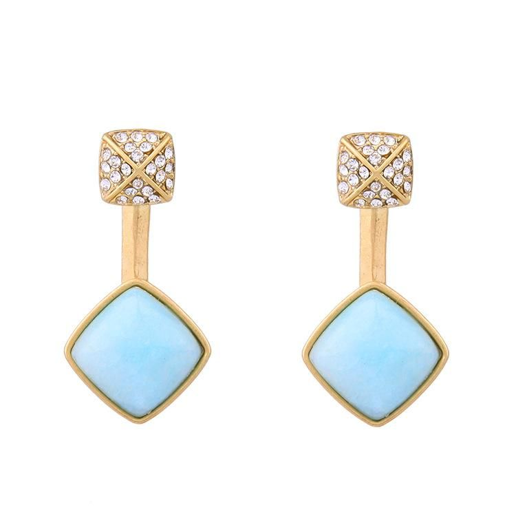 Fashion Water Drop Gem Diamond Glamour Women's Stud Earrings NHQD198175