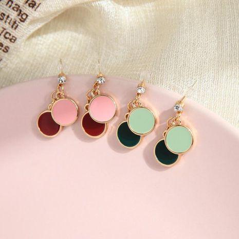 Simple earrings s925 silver pin small enamel glaze earrings wild ring earrings wholesale NHQD198177's discount tags