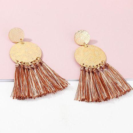 Retro fashion geometric double round earrings female boho tassel earrings NHNZ198188's discount tags