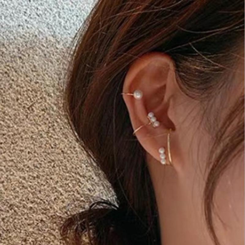 Simple Frosty Earrings Fine Pearl Earrings Fashion ear cuff NHNZ198201