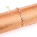 Fashion Rainbow Pentagram Bracelet Box Chain Micro Inlaid Zircon Bracelet Wholesale NHPY198206