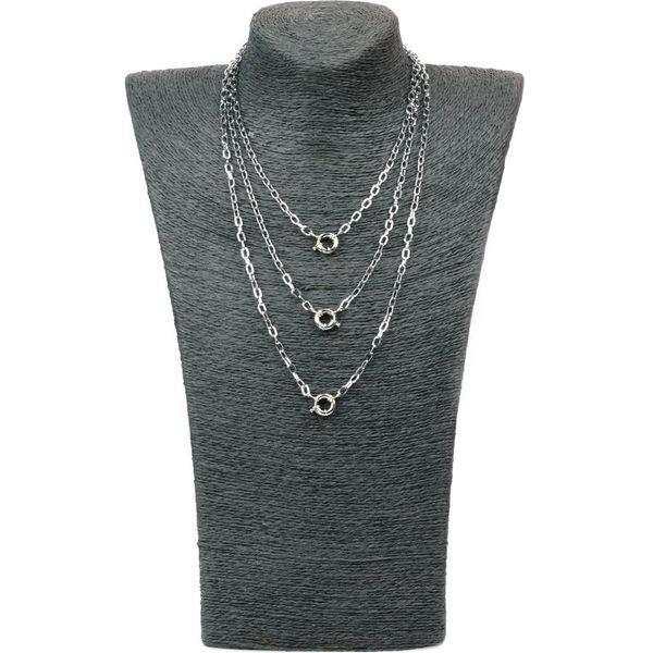 Collar exagerado de moda Collar grueso de acero inoxidable de múltiples capas de cadena larga Hip Hop NHPY198216