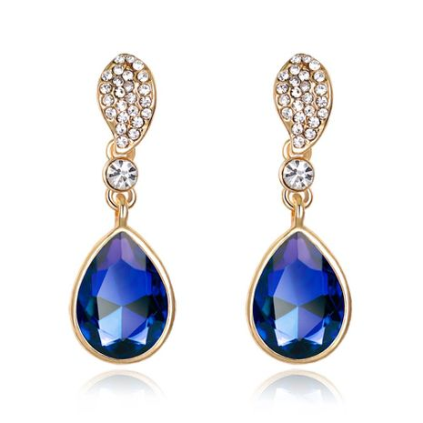 Fashion Shiny Water Drop Crystal Earrings Alloy Diamond Colorful Earrings NHDR198231's discount tags