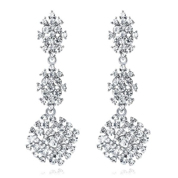 Fashion Exaggerated Long Earrings Fashion Hollow Crystal Ladies Earrings NHDR198232