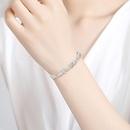 Fashion Bracelet Simple Wild Lady Copper Inlaid Zirconium Bracelet with Extended Chain Bracelet NHTM198236