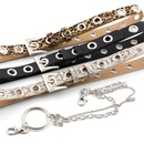 Fashion rock ring chain air eye belt women punk style leopard snake snake eyelet pants belt wholesale NHPO198244