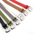 Fashion alloy pin buckle belt ladies solid color decoration wild dress belt wholesale NHPO198245