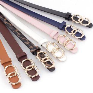 New round buckle women's belt women's casual belt decoration jeans dress belt NHPO198257's discount tags