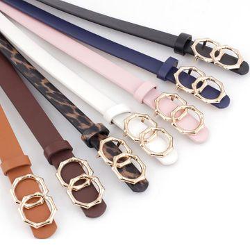 New round buckle women's belt women's casual belt decoration jeans dress belt NHPO198257
