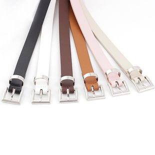 New ladies pin buckle PU small belt wild fashion decorative dress fine belt NHPO198260's discount tags