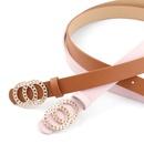 New ladies belt personality double loop buckle wild fashion dress belt NHPO198261