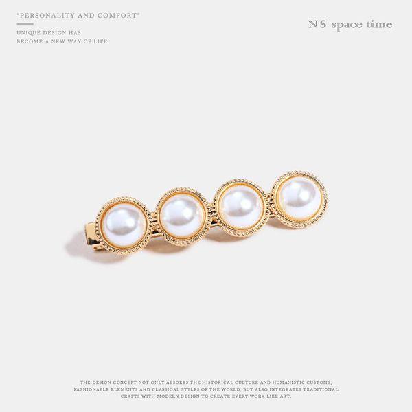 Nueva moda salvaje perla metal pinza de pelo accesorios para el cabello mujeres NHQS198266