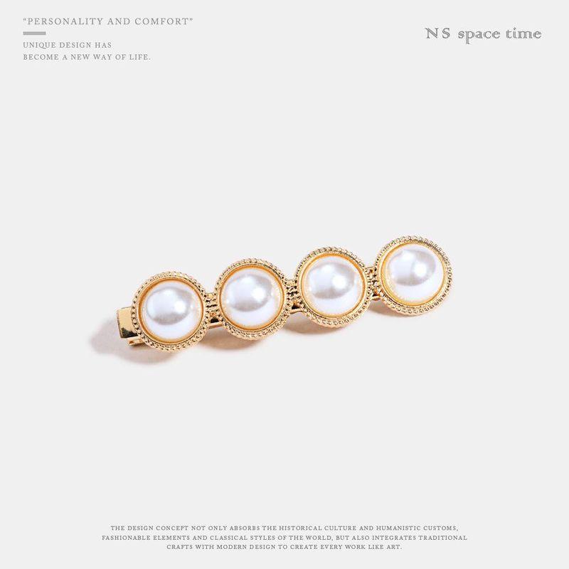 New fashion wild pearl metal hair clip hair accessories women NHQS198266