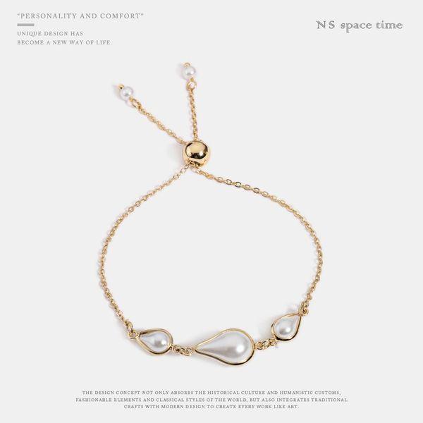 Fashion Adjustable Pearl Bracelet Women's Accessories Chain Bracelet NHQS198267