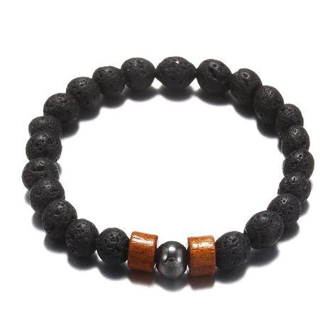 Mode pierre volcanique naturelle perle bracelet fait main bracelet hommes et femmes bracelet de mode NHPF198282's discount tags