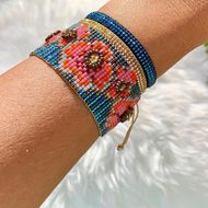 Bohemia Vintage Plum Jewelry Miyuki Mizhu Hand Woven Women Bracelet Set NHGW198286