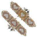 Fashion Bohemia 4mm Gold Bead Jewelry Import Miyuki Mi Bead Hand Woven Love Bracelet NHGW198293