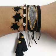 Joyería de diamantes de moda Miyuki tejida a mano de seis puntas estrella pulsera femenina NHGW198295