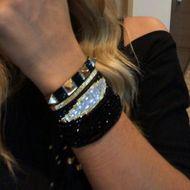 Moda Miyuki Bead Woven Turkey Evil Eye Evil Eye Bracelet Stud Adornos de cristal NHGW198299