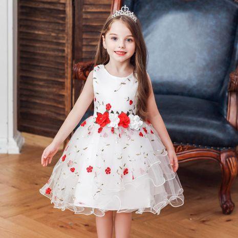 Robe pour enfants robe à fleurs robe de fille de fleur princesse jupe fille costume de jupon NHTY198310's discount tags