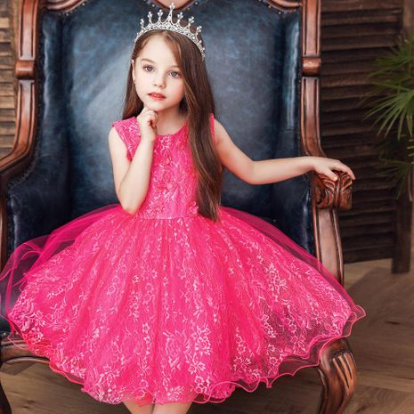 Enfants robe princesse robe bébé ans robe tutu jupe fleur fille robe de mariée NHTY198311's discount tags