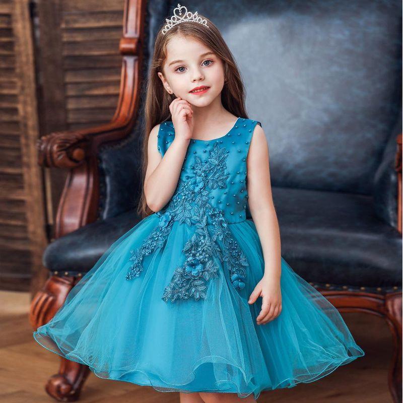 Sleeveless gauze children's dress summer new girl dress tutu skirt children's wedding princess skirt NHTY198312