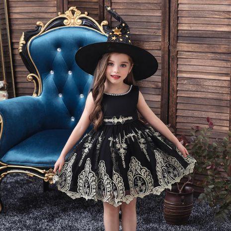 Princesse robe jupe robe pour enfants Noël Halloween costumes chapeau de sorcière NHTY198316's discount tags
