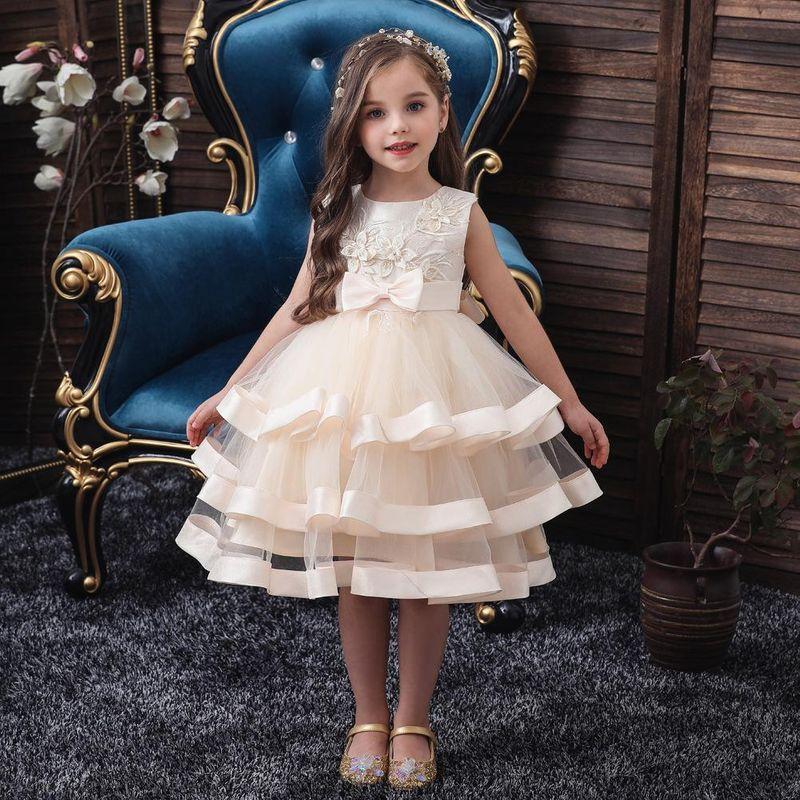 Children's dress pettiskirt girls princess skirt dress autumn children dress NHTY198317