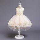 Childrens dresses girls tails catwalk little host costumes flower girl wedding dresses NHTY198319