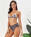 New hot sale ladies split high waist printed bikini swimsuit womens swimwear NHHL198358