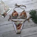 New wish hot sale ladies split snakeskin printed bikini swimsuit NHHL198360
