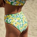 New hot sale ladies split high waist printed bikini swimsuit NHHL198364