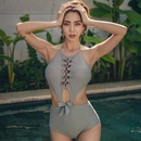 Fashion new sexy bow strapless strapless onepiece swimsuit wholesale NHHL198382