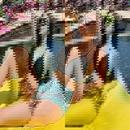 New split triangle was thin bikini hot spring swimsuit women NHHL198384