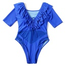 Fashion new plain onepiece swimsuit sexy mesh halfsleeve bikini NHHL198387