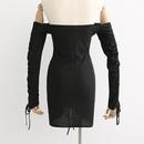 Fashion Spring Drawstring Wrapped Wrap Collar Sexy Dress Wholesale NHAM198423