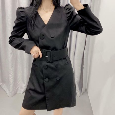 Wholesale Fashion spring mid-length V-neck suit dress NHAM198427's discount tags