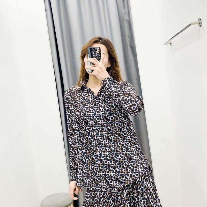 Spring Fashion Leopard Print Blouse Wholesale NHAM198452